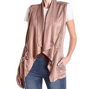 Max Jeans Drape Front Linen Vest